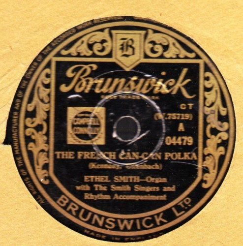 Ethel Smith - The French Can Can Polka - Brunswick 04479